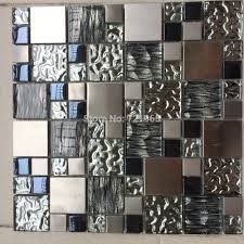 mosaic tiles kitchen backsplash silver metal mosaic stainless steel tile kitchen backsplash wall