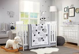 Crib Comforter Dimensions Amazon Com Nojo Good Night Sheep 4 Piece Standard Size Crib