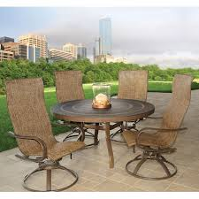 Sling Back Patio Chairs Homecrest Hill Sling High Back Swivel Rocker Patio Dining
