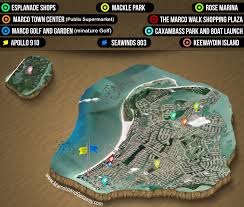Marco Island Florida Map Getting Around Marco Island With Free Taxi