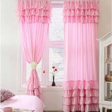 Light Pink Curtains Curtain Decor Ruffled Pink Curtains Ideas Light Pink