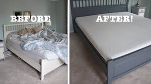 my bed makeover with a lull mattress thrift diving youtube
