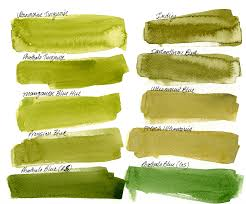 mixing watercolor landscape greens with daniel smith quinacridone