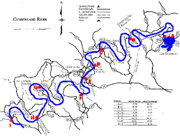 cumberland river map lower cumberland river wolf creek dam to tennessee