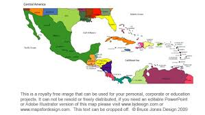 map usa central america map usa and central america major tourist attractions