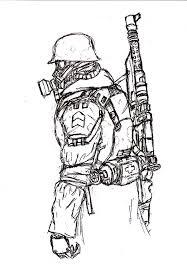 gas mask soldier by c dane on deviantart