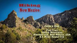 Alberkerky Usa Map by Day Hike Pino Trail Sandia Mountains Albuquerque New Mexico