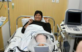 evo morales bolivia u0027s evo morales leaves hospital after knee surgery the san