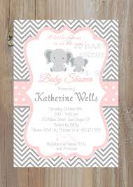 grey and pink chevron baby shower invitation by jcpartyprint
