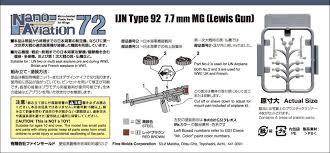 fine molds na11 ijn type92 7 7mm mg lewis gun plazajapan
