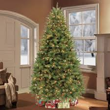 7 5 ft pre lit feel real nordic spruce hinged tree