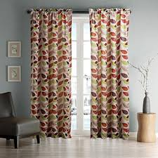 Multi Color Curtains Twopages Contemporary Classic Multi Color Leaves Curtain 50wx102 L
