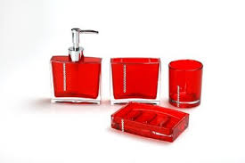 Acrylic Bathroom Accessories Buy 4pcs Acrylic Bathroom Set Wtih Diamoud Stud Fashion Bathroom
