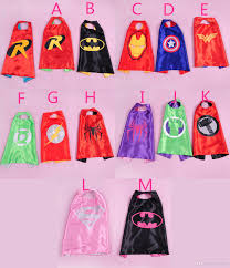 2015 kids superman cape superhero cape boys girls costume