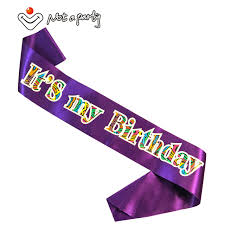 birthday ribbon 6pcs it s my birthday sash purple black white pink ribbon