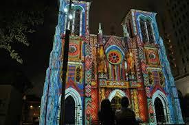 san fernando cathedral light show san fernando cathedral in san antonio during amazing light show