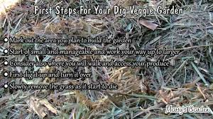 how to start a dig vegetable garden youtube