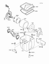 kawasaki klf220 a2 parts list and diagram 1989