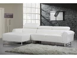 canapé d angle blanc cuir canapé d angle cuir reconstitué pvc broadway 4 places blanc