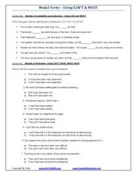 modal verbs printable modals exercises and worksheets