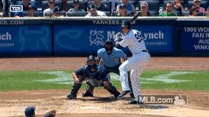 aaron judge s first at bat was a mammoth back to back 446 foot