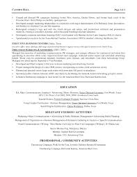 Sample Of Objectives In A Resume by Marketing Director Resume