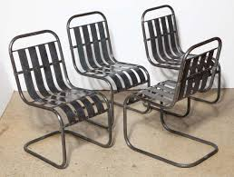 Spring Chairs Patio Furniture Set Of Four Industrial Steel Spring Side Chairs Circa 1930 For