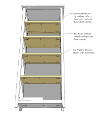 Build Wooden Bookcase by Ana White Channing Bookcase Diy Projects