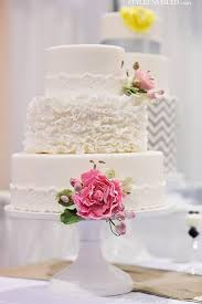3 Tier Wedding Cake White Ruffly 3 Tier Wedding Cake By The Sweet Side 1919782 Weddbook