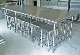 stainless steel kitchen island with seating stainless steel kitchen furniture custom