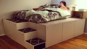 Platform Bed With Storage Underneath Platform Bed With Storage Underneath And Headboard Ikea 2018