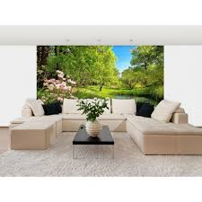 ideal decor 100 in x 144 in delight of life wall mural dm118 park in the spring wall mural