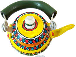 painted kettle madhubani home decor home accent indian discovered