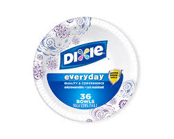 paper bowls dixie heavy duty bowls 10 ounce 36 ct pack of 4 color