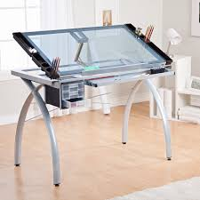 Modern Office Table With Glass Top Have To Have It Studio Designs Glass Top Futura Drafting Table