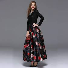 modern floral maxi skirt on sale 10 u2013 maxi dresses black