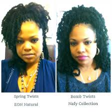 spring twist braid hair spring twists by eon hair verses bomb twists by nafy collection
