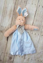 monogrammed bunny blue bunny snuggler by bearington baby blue bunny snuggler by