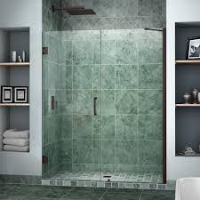 Glass Shower Doors Milwaukee by Dreamline Unidoor 58 In To 59 In X 72 In Semi Framed Hinged