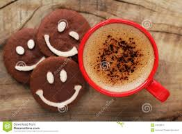cup of coffee with cookies stock photo image 44106917