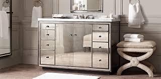 Restoration Hardware Bathroom Cabinet by Mirrored Vanity Strand Restoration Hardware Interior Design