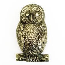 solid brass owl door knocker heavy antique u0026 vintage animal door
