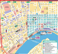 Hop On Hop Off Map New York by New Orleans Map Popout Map New Orleans Tourist Map