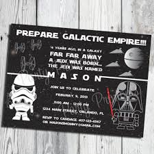 star wars birthday party invitations for boy invitations templates