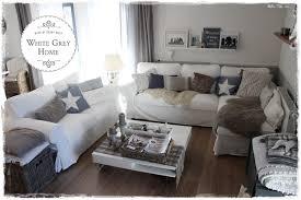 Tisch Im Wohnzimmer White Grey Home Weihnachten Im Wohnzimmer