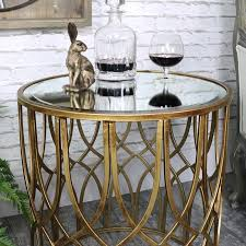 vintage gold side table ornate antique gold mirrored side table melody maison