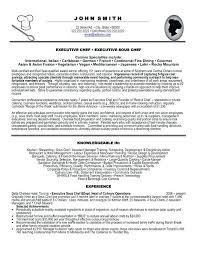 Resume Sample For Cook Position Sample Executive Chef Resume U2013 Topshoppingnetwork Com