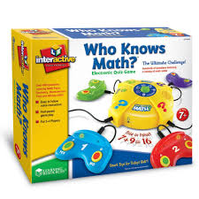 amazon com learning resources who knows math electronic quiz