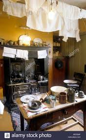 glasgow the tenement house kitchen interior scotland uk display