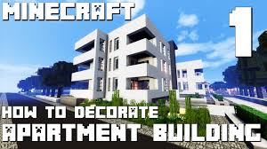 minecraft interior design modern apartment building part 1